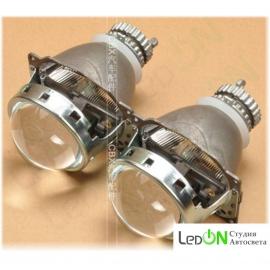 """Комплект би-линз Koito Q5 3.0"""" реплика быстрой установки в гнездо H4 под лампу D2S/D2H"""