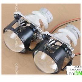 """Комплект би-линз Bosch 2.8"""" реплика быстрой установки в гнездо H4 под лампу D2S/D2H"""