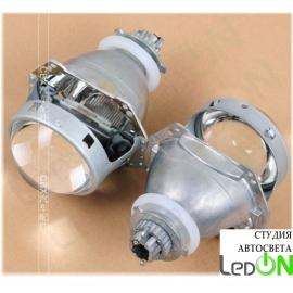 """Комплект би-линз Hella G5 3.0"""" быстрой установки в гнездо H4/H7 в комплекте с ксеноновой лампой 5500К"""