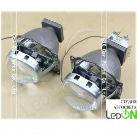 "Комплект би-линз Square Koito Q5 3.0"" (квадратная) реплика штатной установки под лампу D2S/D2H."