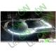 LED гибкий ДХО с функцией бегущего поворотника для установки в фару 60 см.