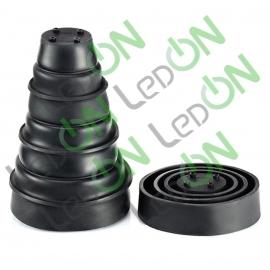 Комплект обрезаемых резиновых крышек для светодиодных ламп №8 (100-45 x 140-25)