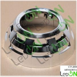 """Комплект масок для линз 3,0"""" LR тип А серебристый глянец"""