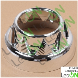 """Комплект масок для линз 3,0"""" DCC серебристый глянец"""