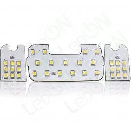Набор светодиодных ламп Sunico для подсветки салона Hyundai Solaris / KIA Rio III с очечником